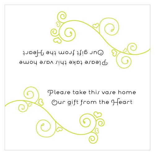 Small Square Personalized Wedding Instructions Card