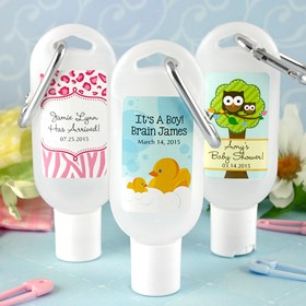 Baby Hand Sanitizer Favours with Carabiner