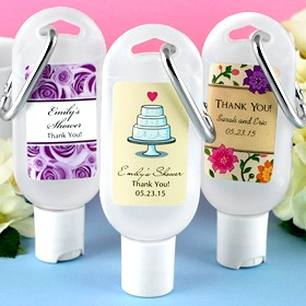 Personalized Hand Sanitizer Favours with Carabiner