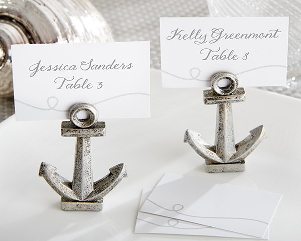 """Nautical"" Anchor Place Card/Photo Holder (Set of 6)"