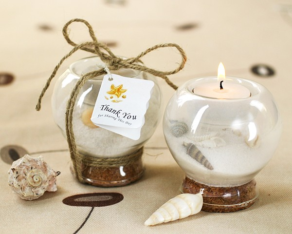 Sand and Shell Tealight Holder