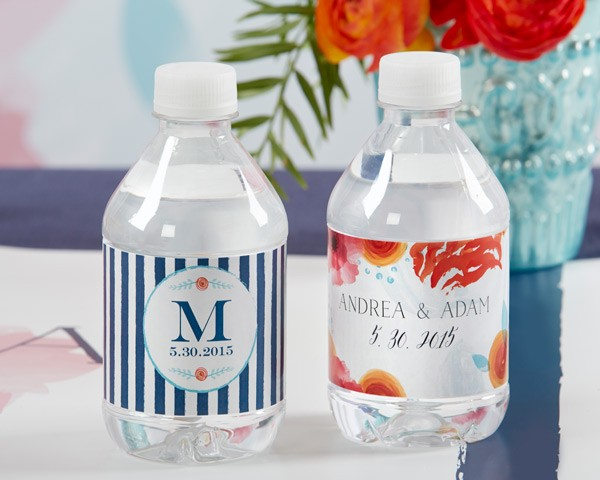 Personalized Water Bottle Labels - Botanical