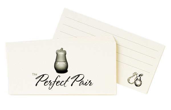 Perfect Pair Wedding Wish Guestbook Card Kit (pkgs of 50)