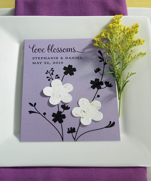 Seed Paper Love Blossoms Personalized Favor Card (pkgs of 12)