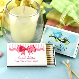 Baby Personalized Matches - Set of 50 (White Box)