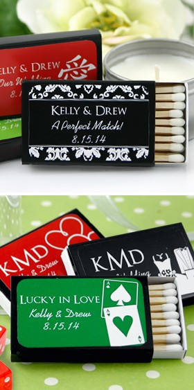 Personalized Matchboxes - Black Box Silhouette Collection (Set of 50)