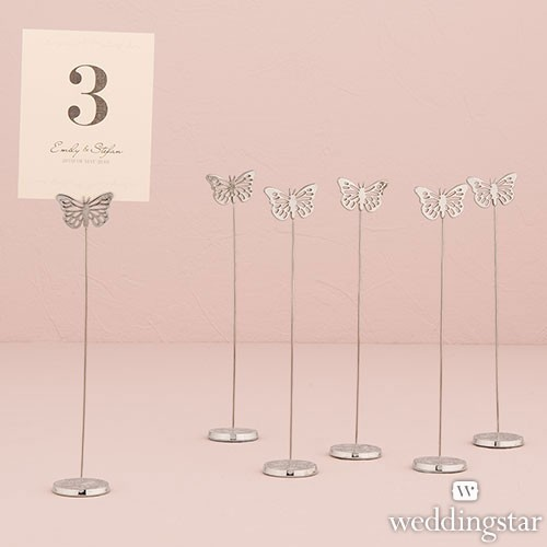 Butterfly Stationery Table Number Holder (pkgs of 6)