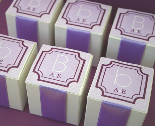 Square Monogram Tags & Labels