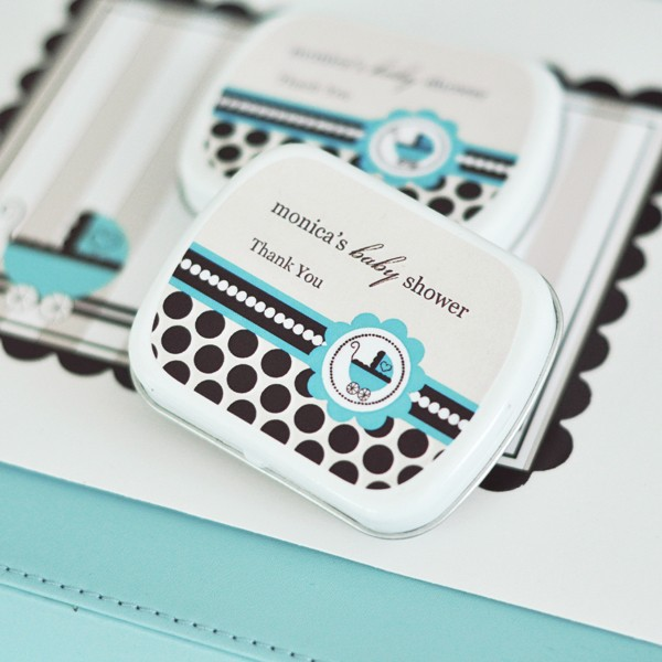 Personalized Mint Tins - Blue Baby