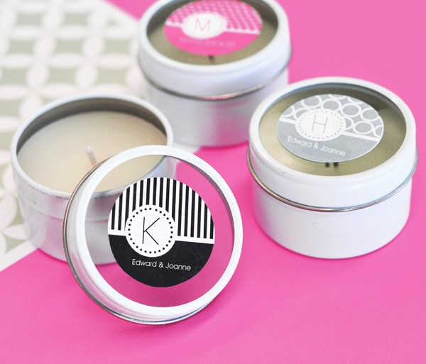 MOD Pattern Monogram Round Candle Tins