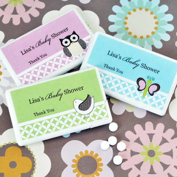 Personalized Baby Animal Mini Mint favours