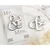 """Mr. & Mrs."" Ampersand Bottle Opener (Available Personalized)"