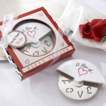 A Slice of Love Stainless-Steel Pizza Cutter in Miniature Pizza Box
