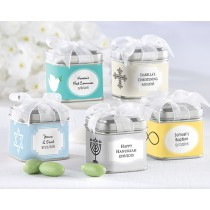 """Unexpected Treasures!"" Favour Tin - Religious (Set of 12) (Available Personalized)"