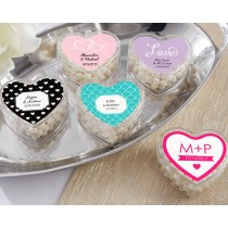 Heart Favour Container- Wedding (Set of 12) (Available Personalized)