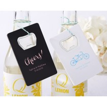 Personalized Bottle Opener-Kate's Wedding Collection (Black or White)