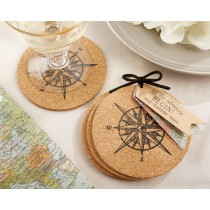 """Let the Journey Begin"" Cork Coasters (set of 4)"