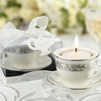 'Teacups and Tealights' Miniature Porcelain Tealight Holders