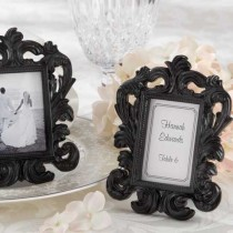 """Black Baroque"" Elegant Place Card Holder/Photo Frame"