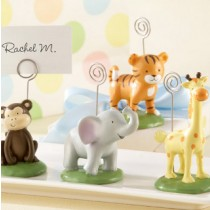 Born To Be Wild Animal Place Card / Photo Holders Set of Four Assorted