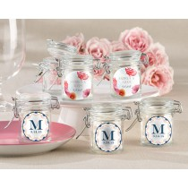 Personalized Glass Favor Jars - Botanical (Set of 12)