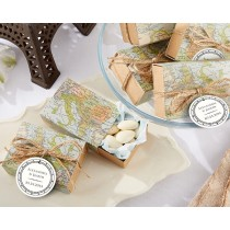 """Around the World"" Map Favour Box (Set of 24)"