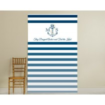Personalized Photo Booth Backdrop - Kate's Nautical Wedding Collection