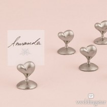 """Swish"" Heart Place Card Holders (pkgs of 8)"