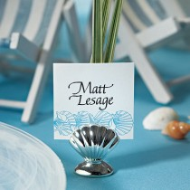 Shell Silver Place Card Holders (pkgs of 8)