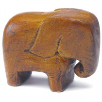 "Miniature ""Good Luck"" Wooden Elephants (pkgs of 4)"