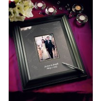 Black Framed Inscribable Signature Keepsake Mat Kit