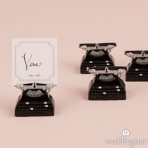 Vintage Typewriter Card Holder (pkgs of 6)
