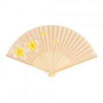 Tropical Fan with Romantic Plumeria Floral Details (pkgs of 6)
