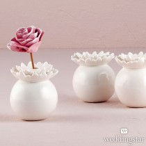 """Pretty Petals"" Porcelain Miniature Flower Vase (pkgs of 4)"