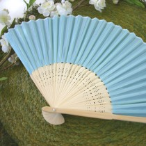 Silk Fan - Blue