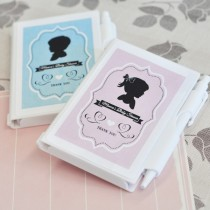 Vintage Baby Personalized Notebook Favours