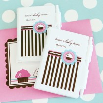 Personalized Notebook Favours - Cupcake Party