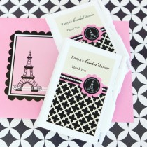 Personalized Notebook Favours - Parisian Party