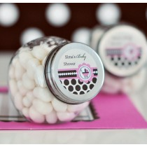 Personalized Candy Jars - Pink Baby