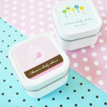 Elite Design Baby Shower Square Candle Tins