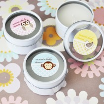 Baby Animal Round Travel Candle Tins