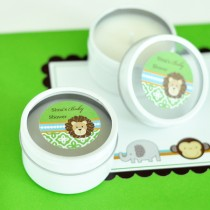 Personalized Round Candle Tins - Jungle Safari