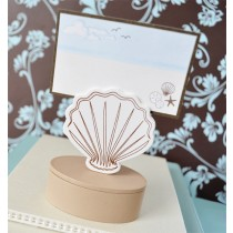 Shell Place Card favour Boxes with Designer Place Cards (set of 12)