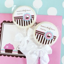 Personalized Lollipop Favours - Cupcake Party