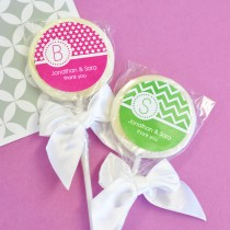 MOD Pattern Monogram Lollipop Favours