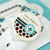Personalized Lollipop Favours - Blue Baby