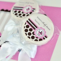 Personalized Lollipop Favours - Pink Baby