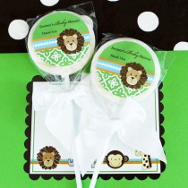 Personalized Lollipop Favours - Jungle Safari
