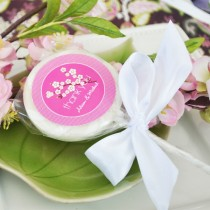 Something Sweet Cherry Blossom Personalized Lollipop Favours