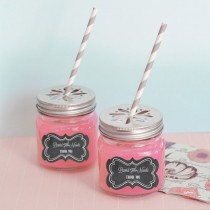 Chalkboard Wedding Personalized Mason Jar Drinking Glasses